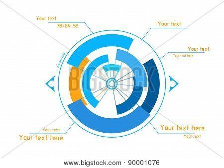 Blue And Orange Infographics