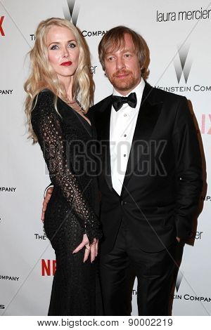 LOS ANGELES - JAN 11:  Janne Tyldum, Morten Tyldum at the The Weinstein Company / Netflix Golden Globes After Party at a Beverly Hilton Adjacent on January 11, 2015 in Beverly Hills, CA
