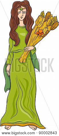 Greek Goddess Demeter Cartoon
