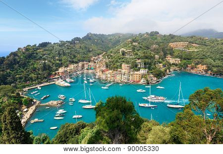 Aerial panorama of Portofino