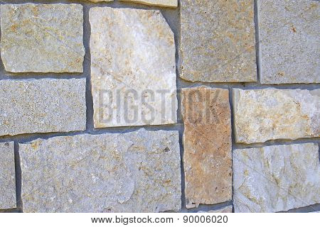 Modern Stone Wall Close Up