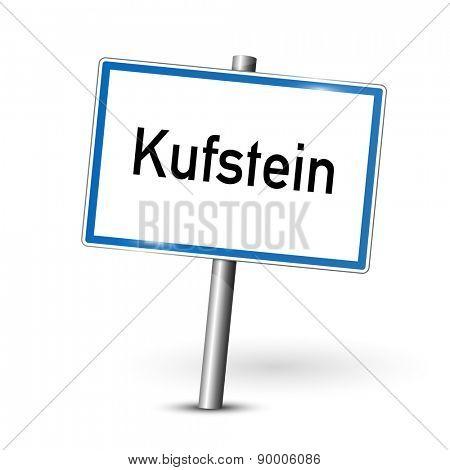 City sign - Kufstein - Austria