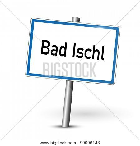City sign - Bad Ischl - Austria