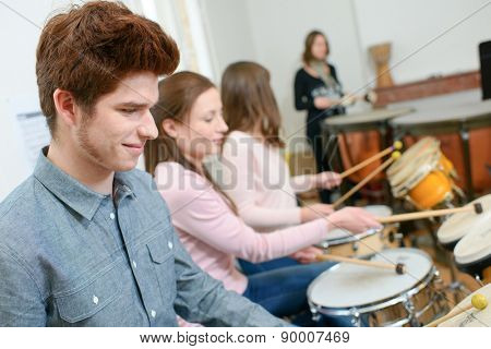 Percussion lesson