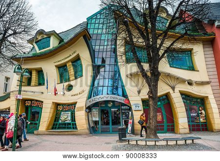 Sopot, Poland -MARCH 14: The Crooked House on the main street of Monte Cassino in Sopot  Poland on March 14, 2015