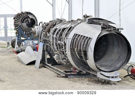 Disassembled Jet Aircraft