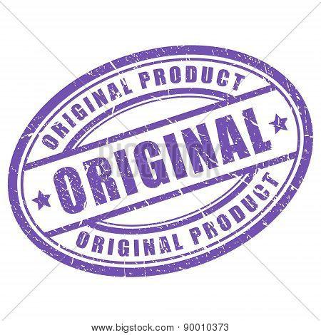 Original vector oval stamp