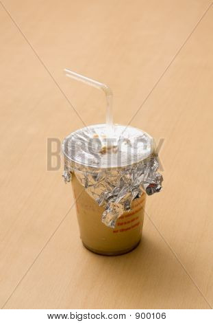 Cold Coffee With Straw