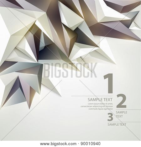 Low poly triangular background. Vector illustration