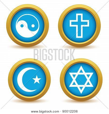 Religious symbols icon set