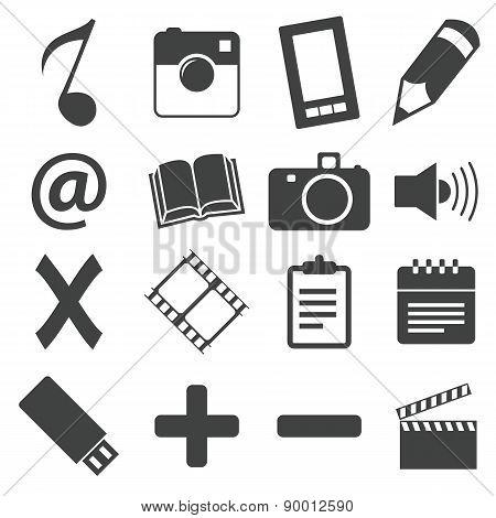 Simple black icon set 6