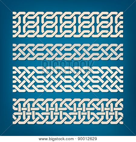 Set of Oriental Pattern Elements. Vector illustration.