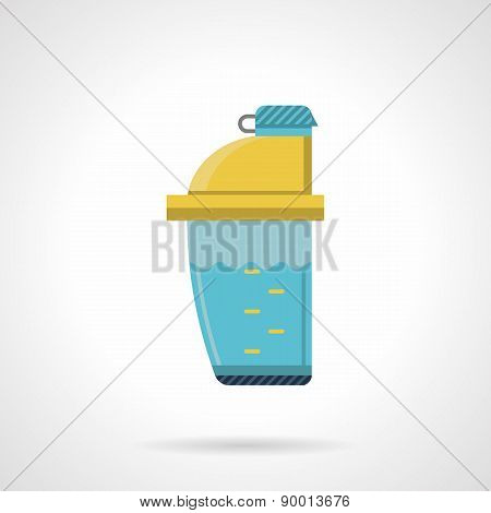 Plastic shaker flat vector icon