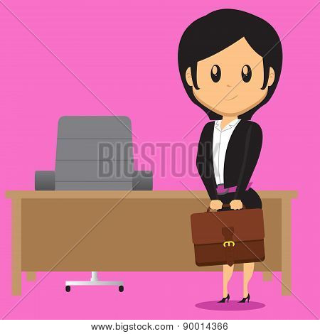 Office Lady Carrying Bag