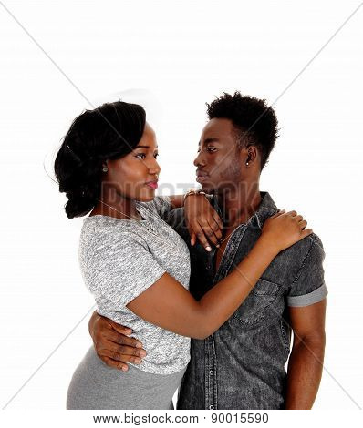Young Black Couple.