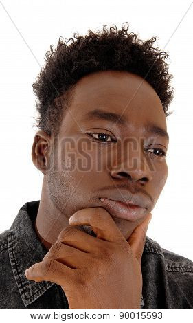 Heat Shot Of Black Man.