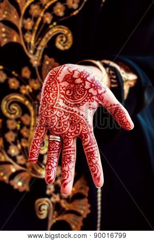 Henna hand tattoo body art tradition color