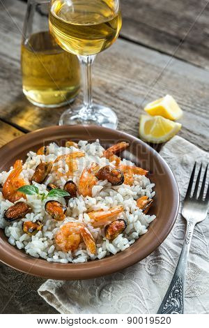 Carnaroli Rice With Seafood