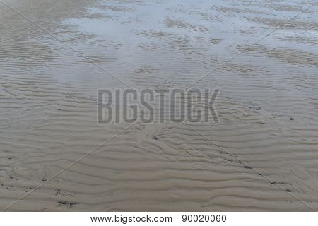 Detail Sand Ripples At A Beach