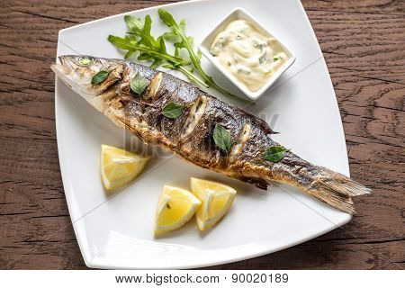 Grilled Seabass With Lemon