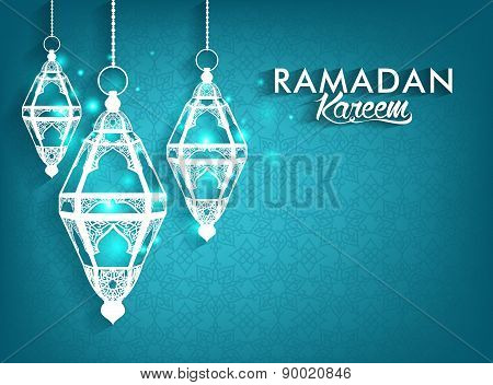 Beautiful Elegant Ramadan Kareem Lanterns or Fanous