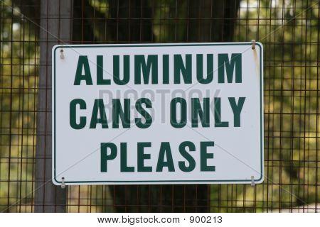 Aluminum Recyling Sign