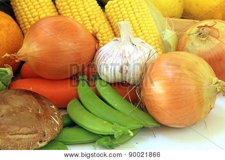 Vegetable Harvest with a Variety of Vegetables
