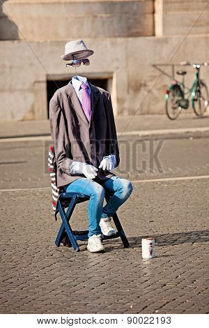 Street Performer In Rome