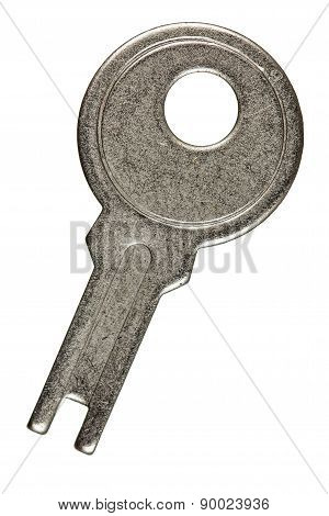 Old Key From Lock, Isolated On White Background
