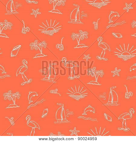 Seamless Vector Sea Pattern