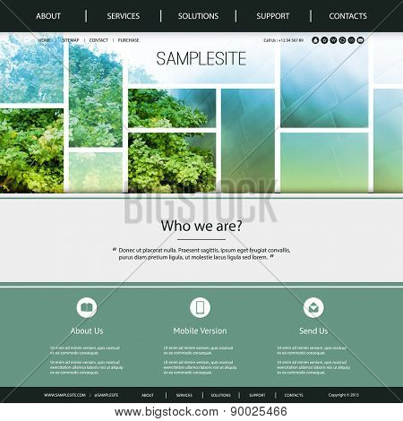 Website Design for Your Business with Green and Blue Header Design