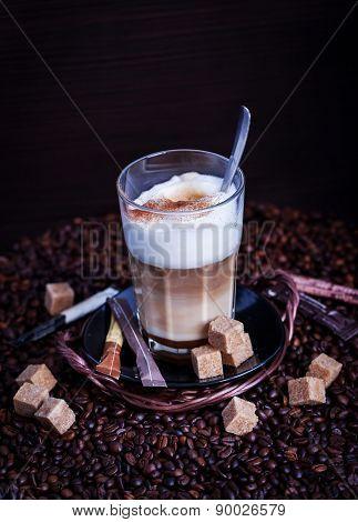 Fresh Hot Tasty Latte Macchiato Coffee