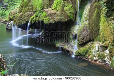 Bigar Cascade Falls In Nera Beusnita Gorges National Park, Romania