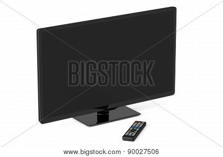Tv Set And Remote Control