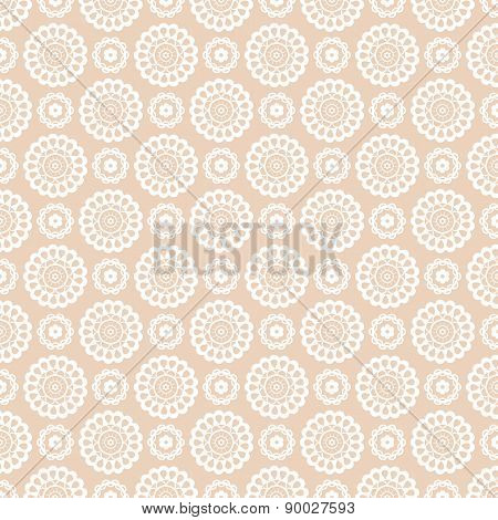 Vector Seamless Pattern With Lace Elements.