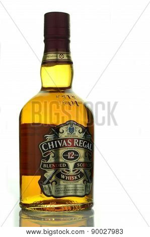 Chivas Regal whisky isolated on white background
