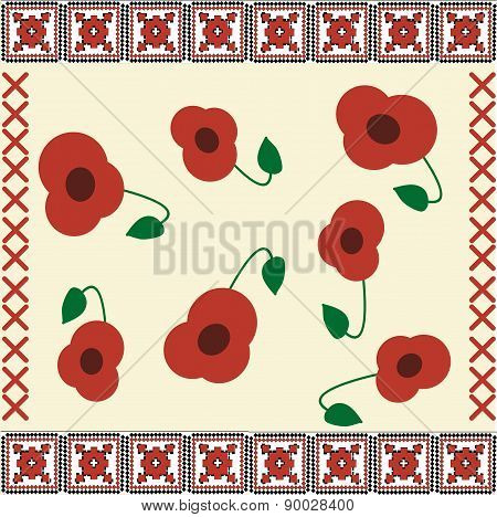 Poppies Embroidery