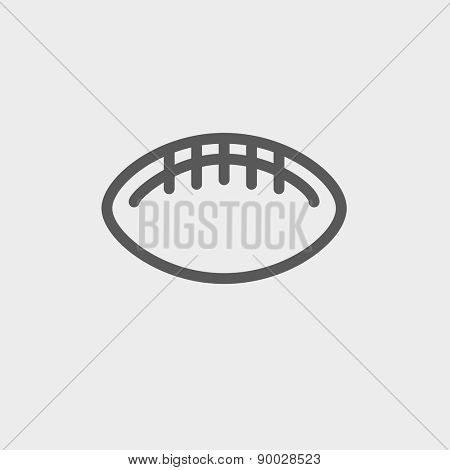 Football ball icon thin line for web and mobile, modern minimalistic flat design. Vector dark grey icon on light grey background.