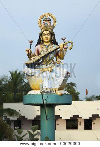 Goddess Saraswathi Statue.