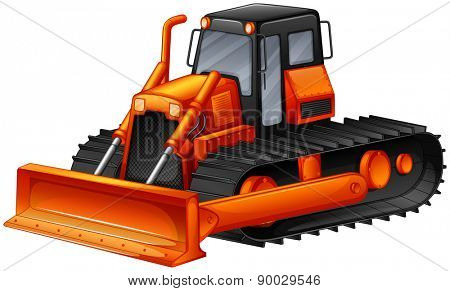 Close up modern design of bulldozer
