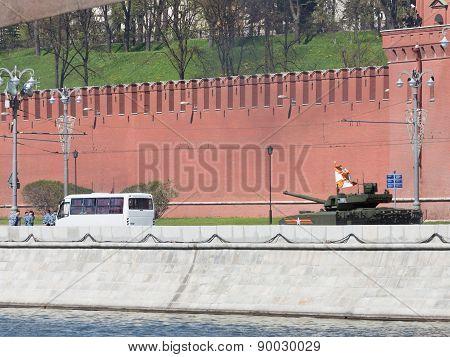 Powerful Armata Tank