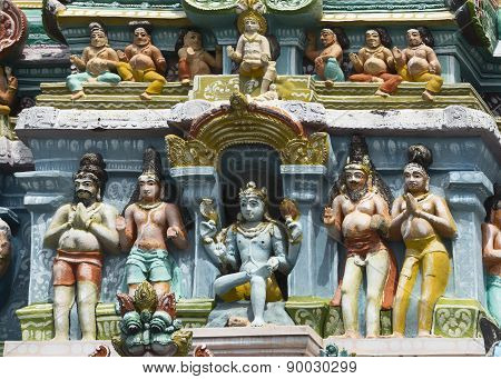 Dhakshinamoorthy, Lord Shiva As Supreme Teacher On Gopuram.