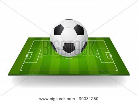 Soccer Ball On Field, Design Element