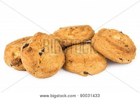 Soft Sweet Cookies With Raisins