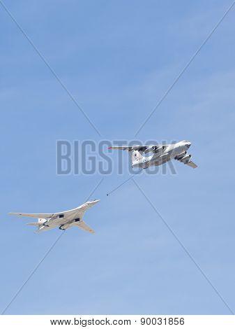 Tu-160 And Il-78M2 Planes