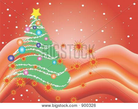 Christmas Illustration In Red