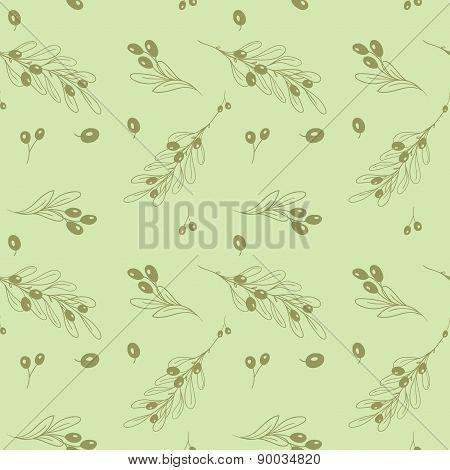 Olive light seamless vector pattern