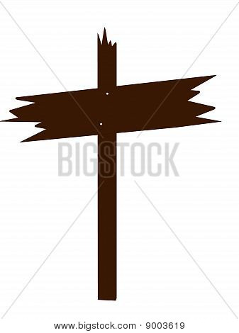 Brown Wooden Sign Art Illustration