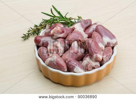 Raw Chicken Hearts