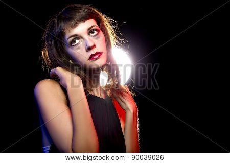 Lonely Drunk Girl at Nightclub